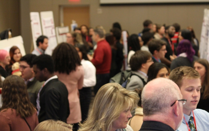 Image of poster session at IU Undergraduate Research Conference.